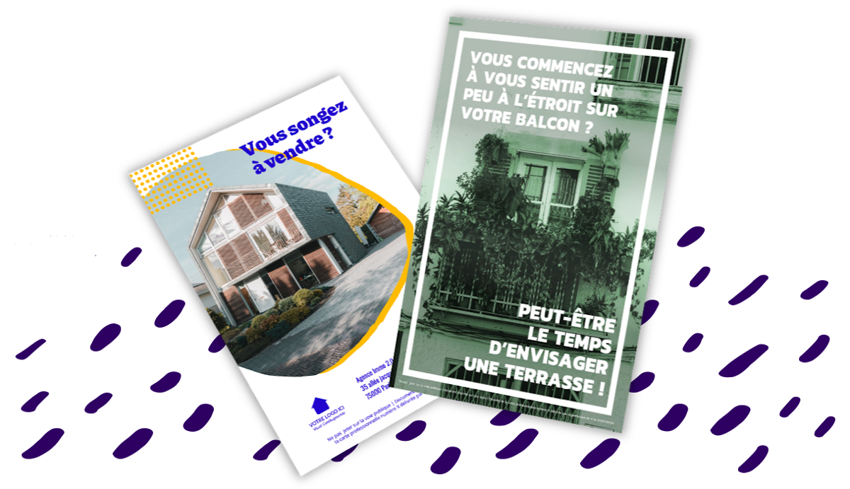 Flyers Communication Immobilier Mars