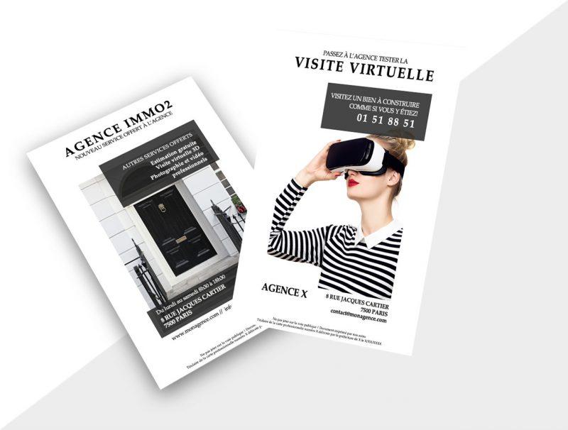 Flyers immobilier - Nouveau Service Agence Immobiliere
