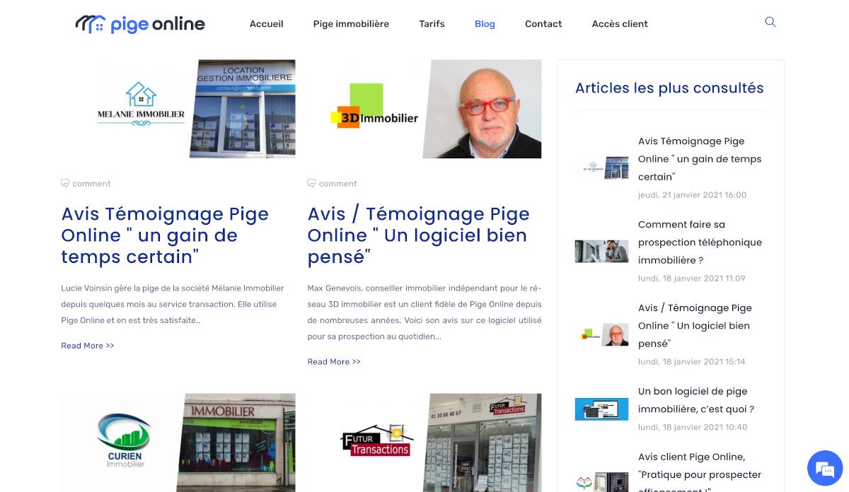 Pige Online Blog Immobilier Annuaire