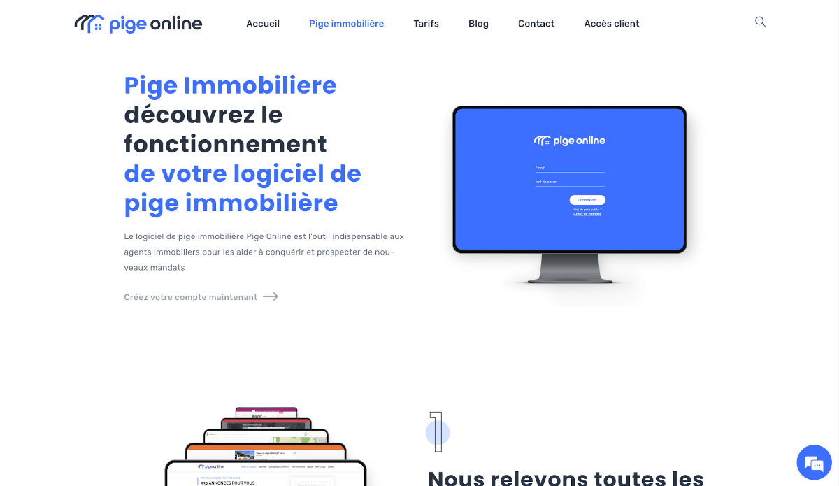 Pige Online Fonctionnalités Logiciel Pige Immobilière Annuaire