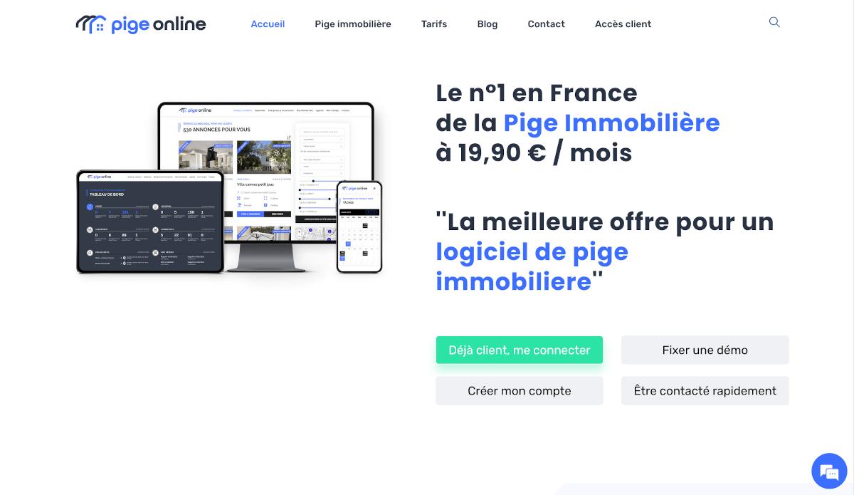 Pige Online Logiciel Immobilier Homepage Annuaire