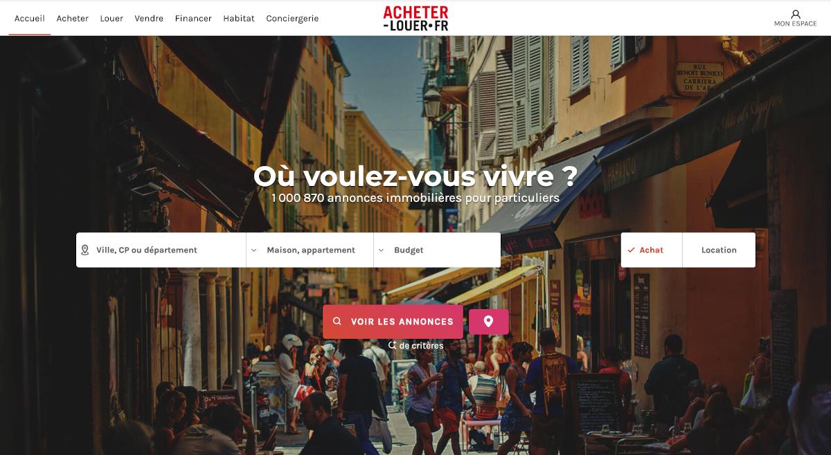 Acheter Louer Homepage Partenariat Kize Startup Immobilier Proptech Intelligence Artificielle