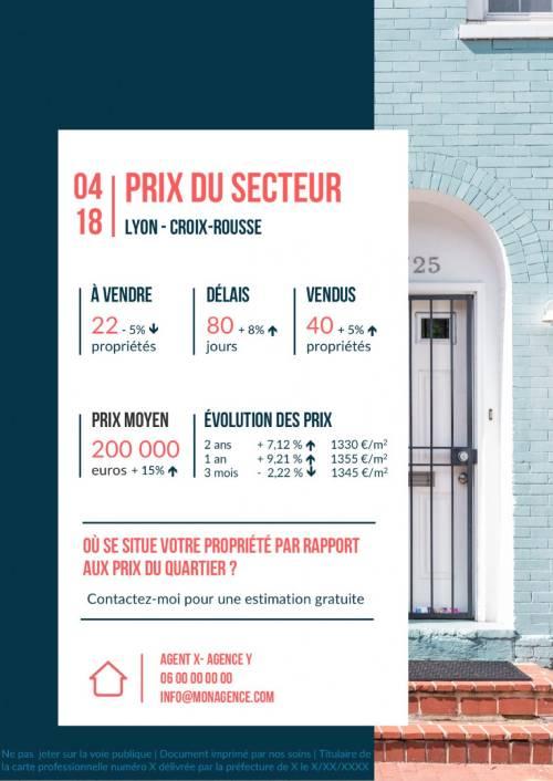 Flyers Immobilier Prix Marche Illustration