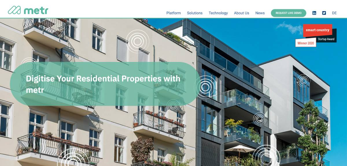 Metr Proptech Startup Immobilier Smartbuilding Iot