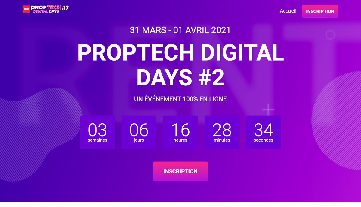 Proptech Digital Days #2 Proptech Startups Immobilier Rent Salon