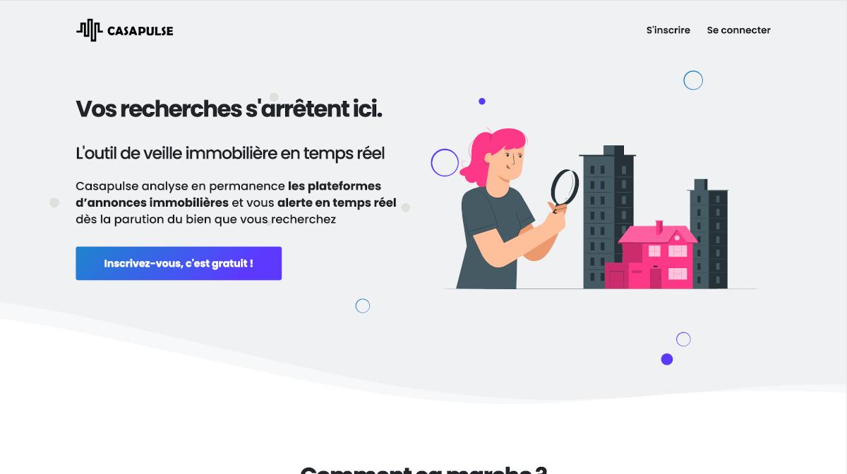 Casapulse Proptech Startup Immobilier Outil De Veille Immobilière Immo2