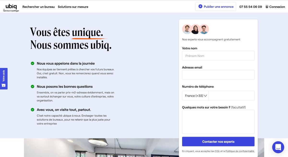 Ubiq Ex Bureaux À Partager Portail Immobilier Dentreprise Solutions Adaptées