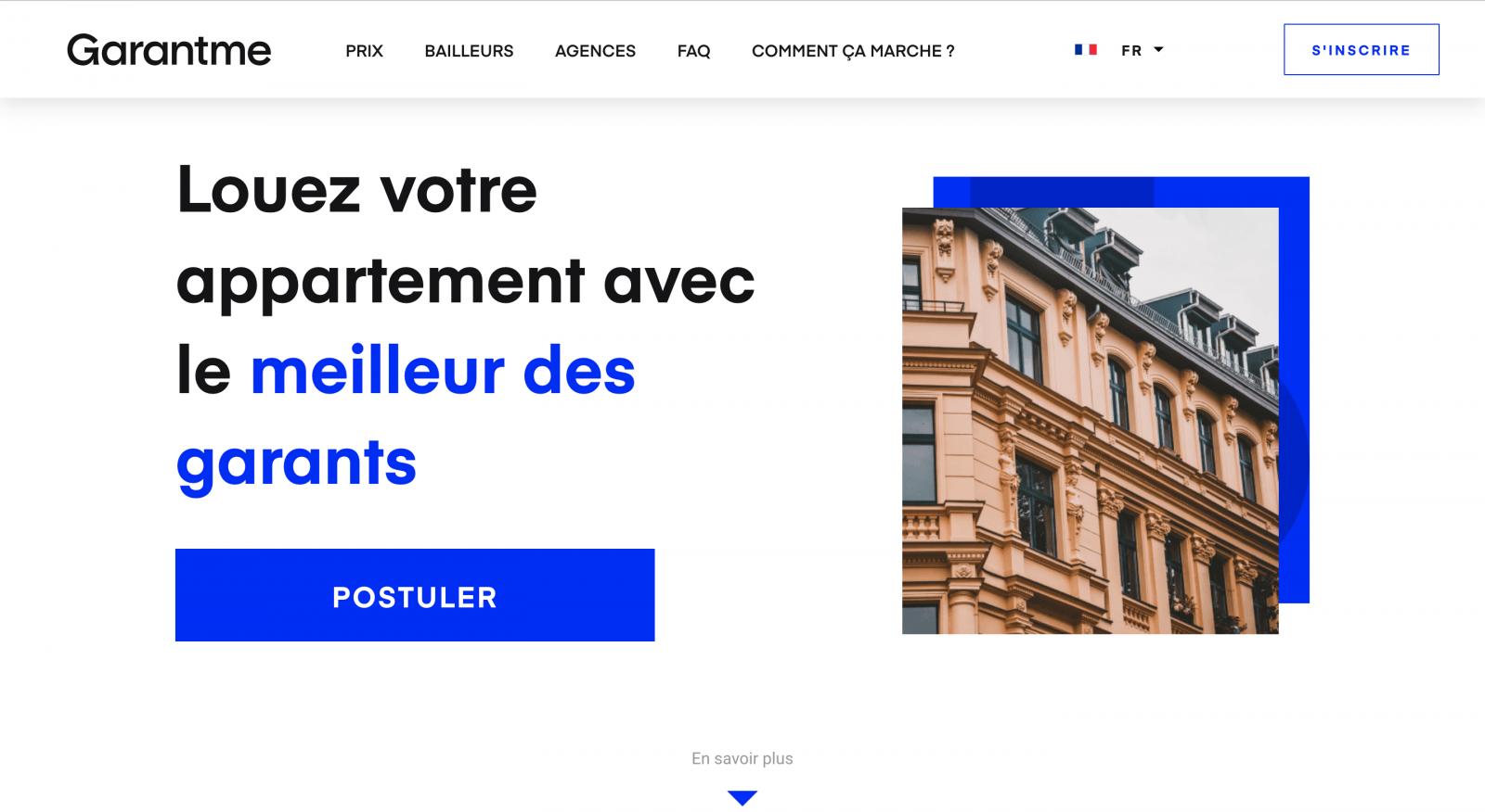 Garantme Homepage Branding Immobilier