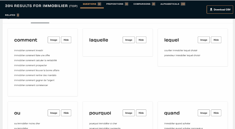 Homepage Answer The Public Seo Outil Immobilier Liste