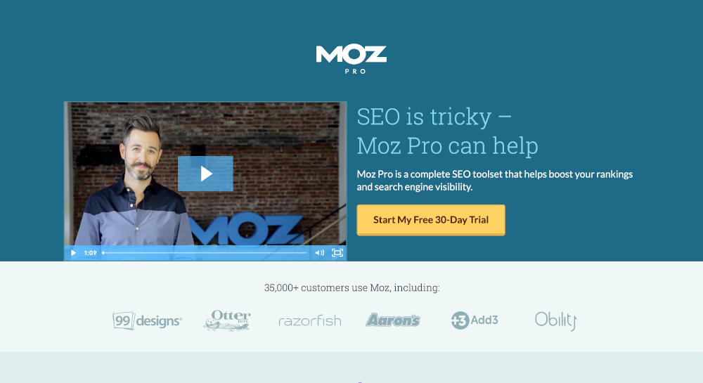 Moz Pro Homepage Outil Seo Referencement Immobilier Visibilité Performance Site Internet